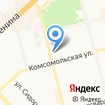 Магазин продуктов на карте Комсомольска-на-Амуре