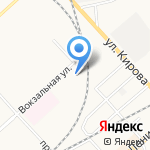 Детский сад №104 общеразвивающего вида на карте Комсомольска-на-Амуре