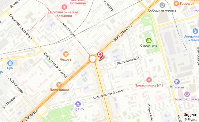 Карта расположения пункта доставки Билайн в городе Комсомольск-на-Амуре
