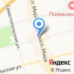 Цветущая полянка на карте Комсомольска-на-Амуре