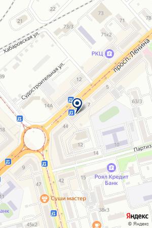АПТЕКА ФАРМ-ЭКСПРЕСС на карте Комсомольска-на-Амуре