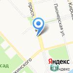 Координационный совет организаций профсоюзов на карте Комсомольска-на-Амуре