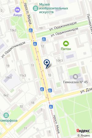 АПТЕКА ЮНИС ПРОД на карте Комсомольска-на-Амуре