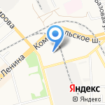 В-Лазер на карте Комсомольска-на-Амуре