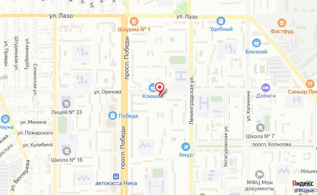 Карта расположения пункта доставки Westfalika в городе Комсомольск-на-Амуре