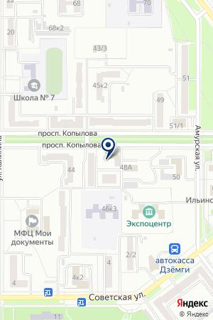 АВТОМАТИЗИРОВАННЫЙ СЕРВИСНЫЙ ЦЕНТР АЙС-СЕРВИС на карте Комсомольска-на-Амуре