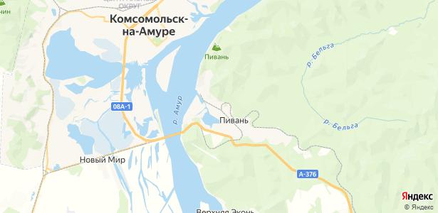 Пивань на карте