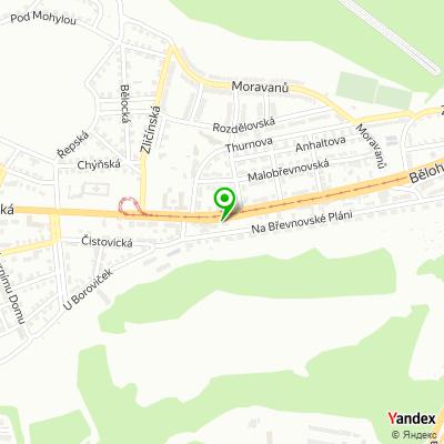 Síť obchodů Dům Barev na mapě