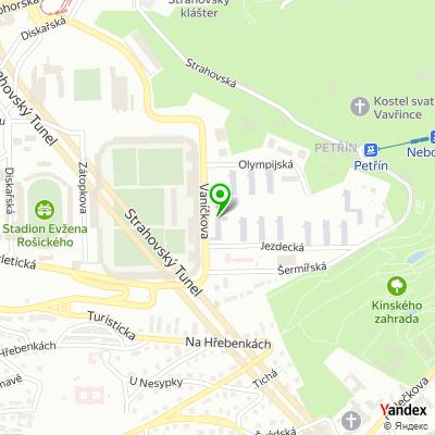 Hostel Strahov na mapě