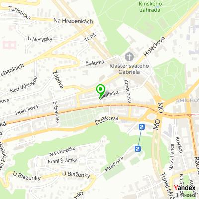 Masážní studio Tantra masáže Praha na mapě