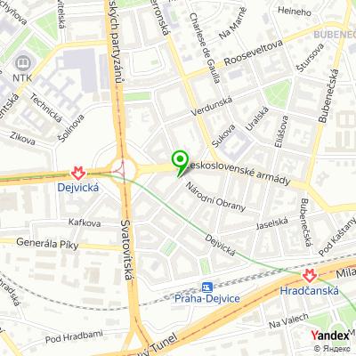 Restaurace U Cedru na mapě