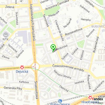 Úklidová společnost EuroServis na mapě