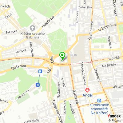 Společnost BNP Paribas Cardif Pojišťovna, s.r.o. na mapě