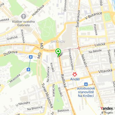 Internetový portál Seznam.cz na mapě