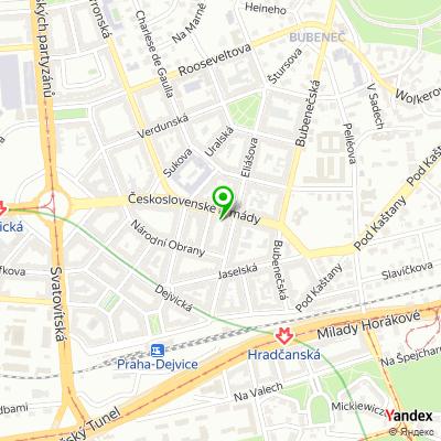Obchod se spodním prádlem Chantal na mapě