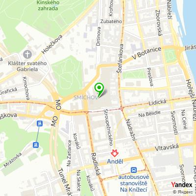 Restaurace rychlého občerstvení Sbarro na mapě