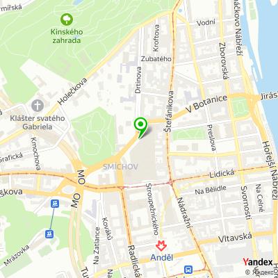 Síť obchodů RAGAZZA na mapě