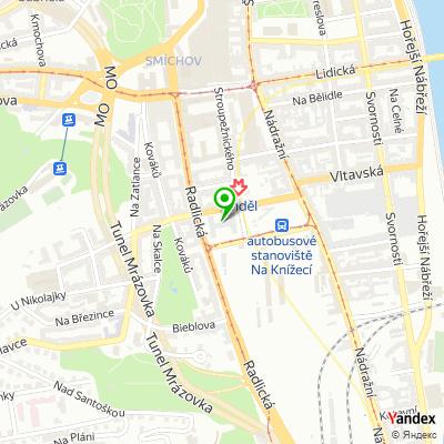 Realitní kancelář Eurocont Reality Praha na mapě
