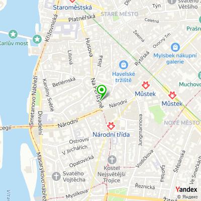 Síť obchodů Rock Point na mapě