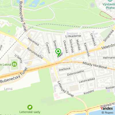 Síť restaurací Einstein na mapě