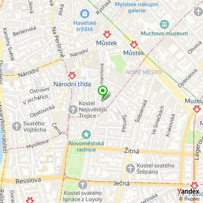 Obchod s ručně šitými oděvy Modass na mapě