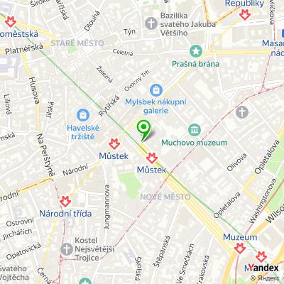 Síť sázkových kanceláří MAXI-TIP na mapě