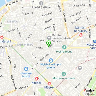 Obchod se šperky Český granát na mapě