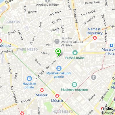 Restaurace Na Ovocném trhu na mapě
