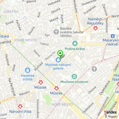 Síť obchodů Calvin Klein underwear na mapě