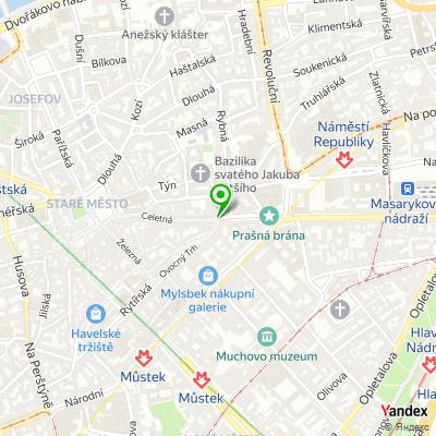 Obchod se sklem a bižuterií Glassica Prague na mapě