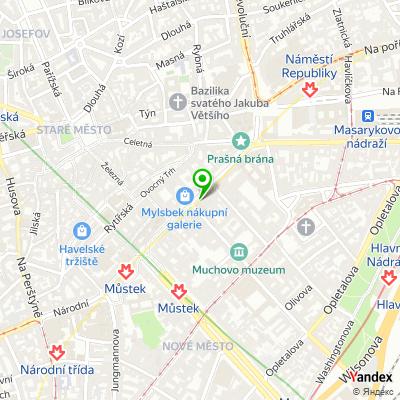 Síť obchodů s obuví Salamander na mapě