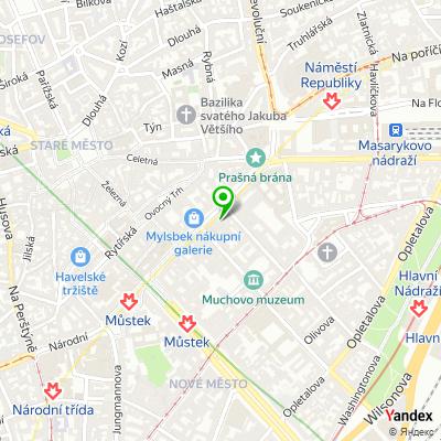 Vyšší odborná škola elektrotechnická Františka Křižíka na mapě