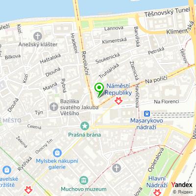 Síť obchodů Puma na mapě