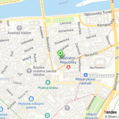 Síť obchodů PROFIMED na mapě