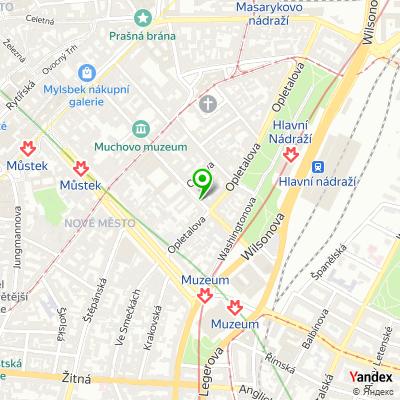 IT-společnost MÚZO Praha na mapě