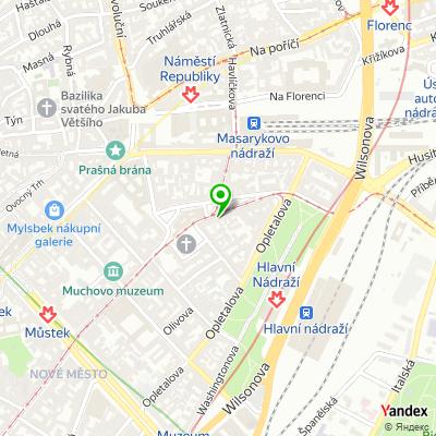 Stomatologická ordinace Denté Clinic Prague na mapě