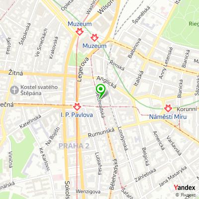 Restaurace a hudební klub Radost FX na mapě