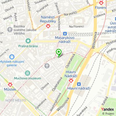 Hotel Zlatá Váha na mapě