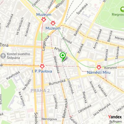Salon krásy Londýn na mapě
