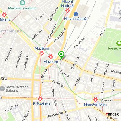 Realitní kancelář Prague Property Investment na mapě