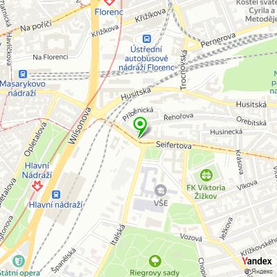 Společnost Pražská správa nemovitostí na mapě