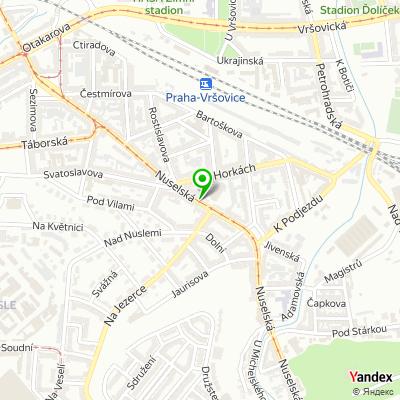 Síť obchodů Tesco Expres na mapě