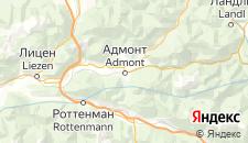 Отели города Адмонт на карте