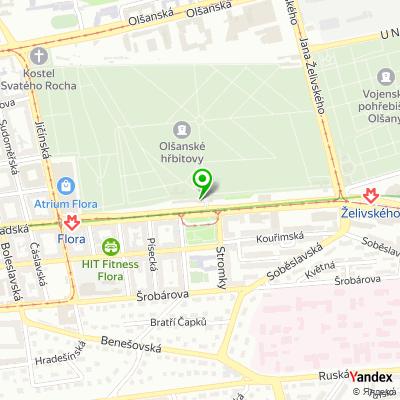 Hřbitovní správa Vinohrady na mapě