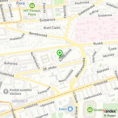 Vzorková prodejna Interiéry Hazuka na mapě