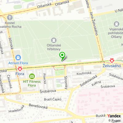 Společnost Správa pražských hřbitovů na mapě