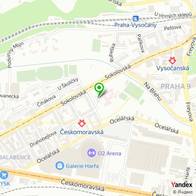 Klinika pro léčbu neplodnosti Prague Fertility Centre na mapě