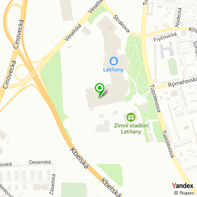 Síť hypermarketů Tesco na mapě