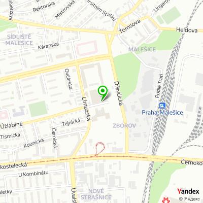 Parkoviště Malešice na mapě