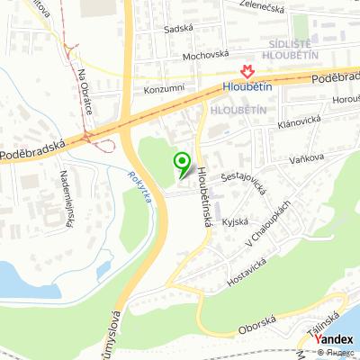 Klinika GynCentrum Praha na mapě